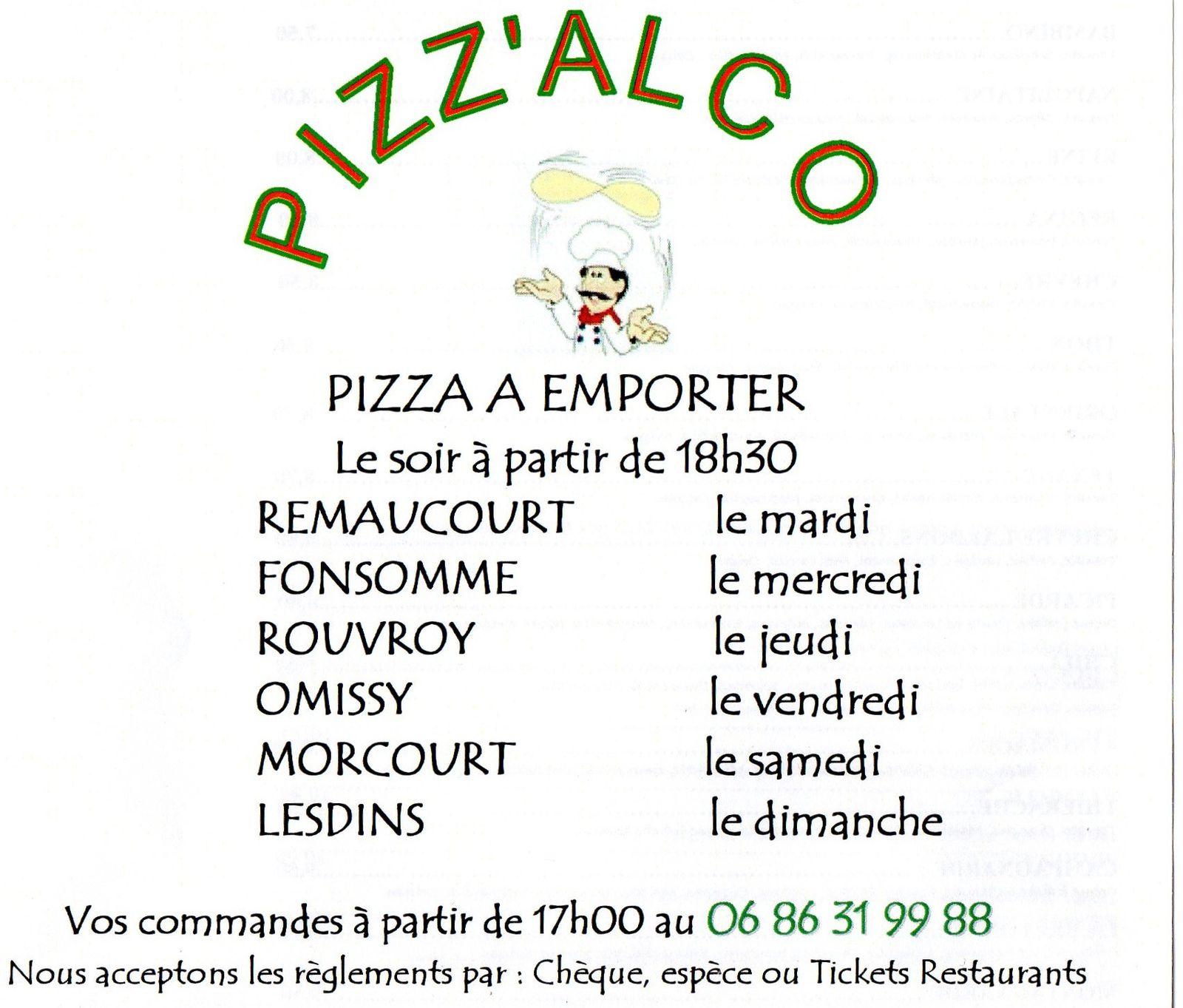 Le mardi soir c'est Pizzas à Remaucourt !