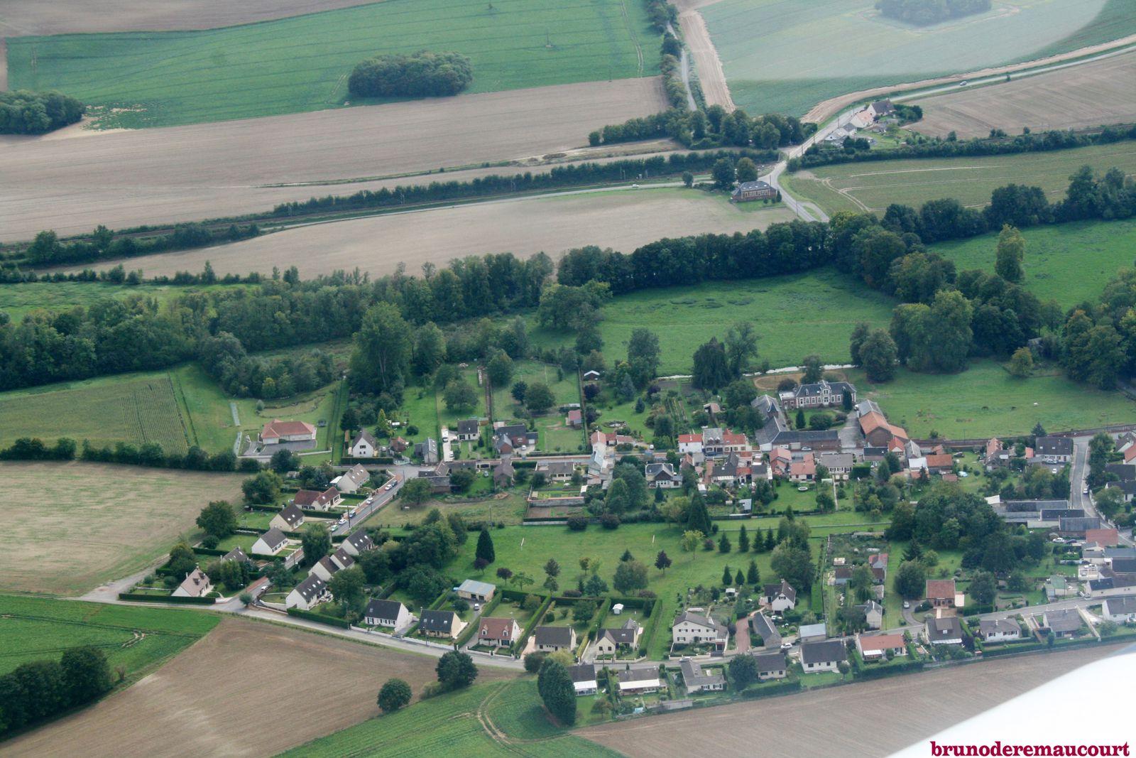 Une partie du village ! manque les hameaux de Bellecour et du Tilloy