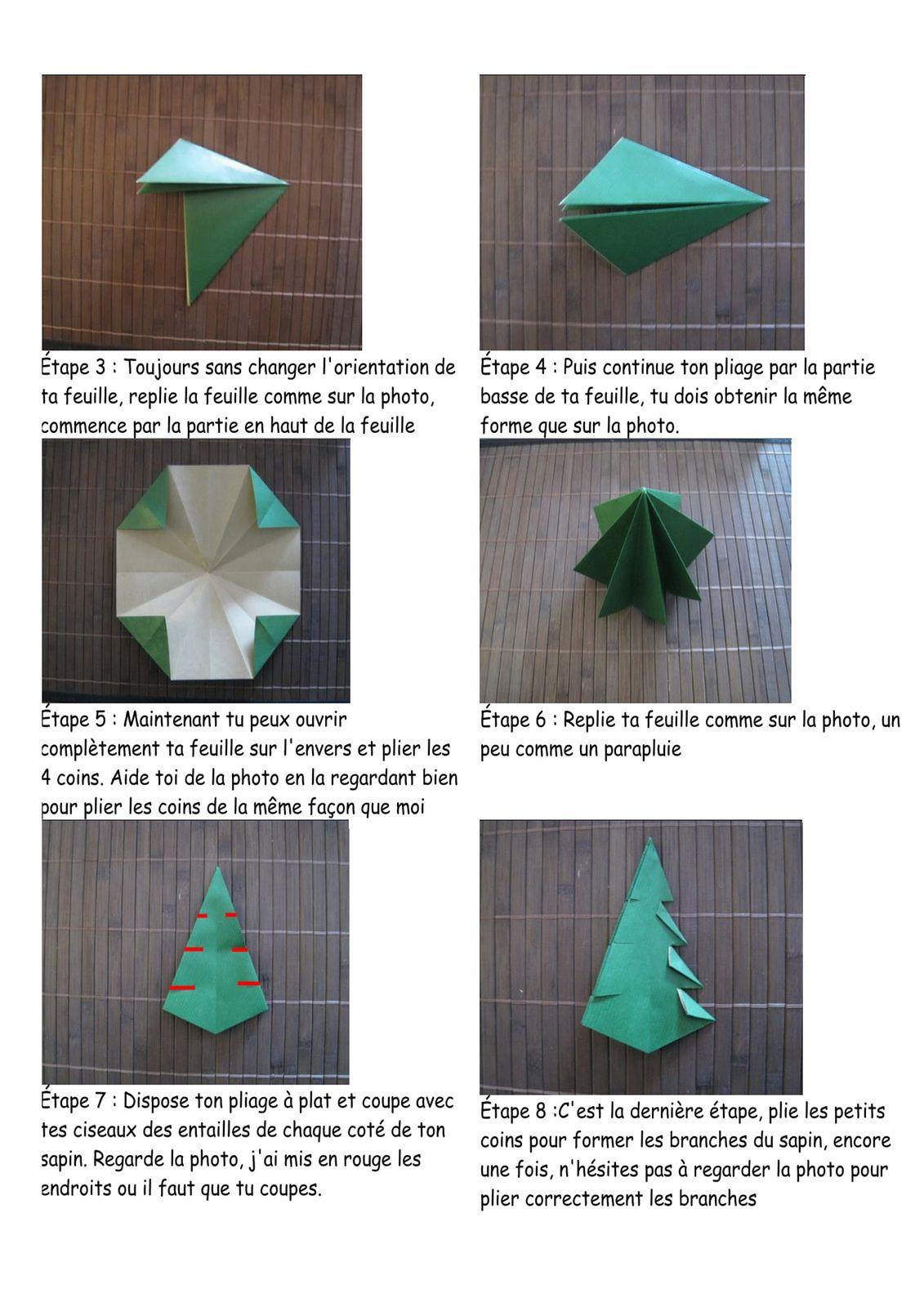 Origami de Noël.