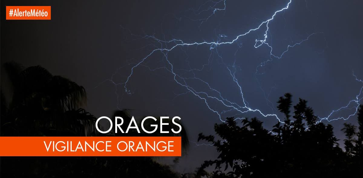 Alerte orange pour orages.
