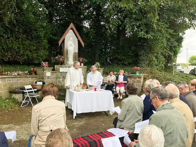 Messe de l'Assomption ce matin au village.