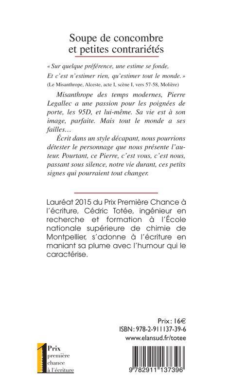 Soupe de Concombre et petites contrariétés, Cédric Totée, éditions Elan Sud