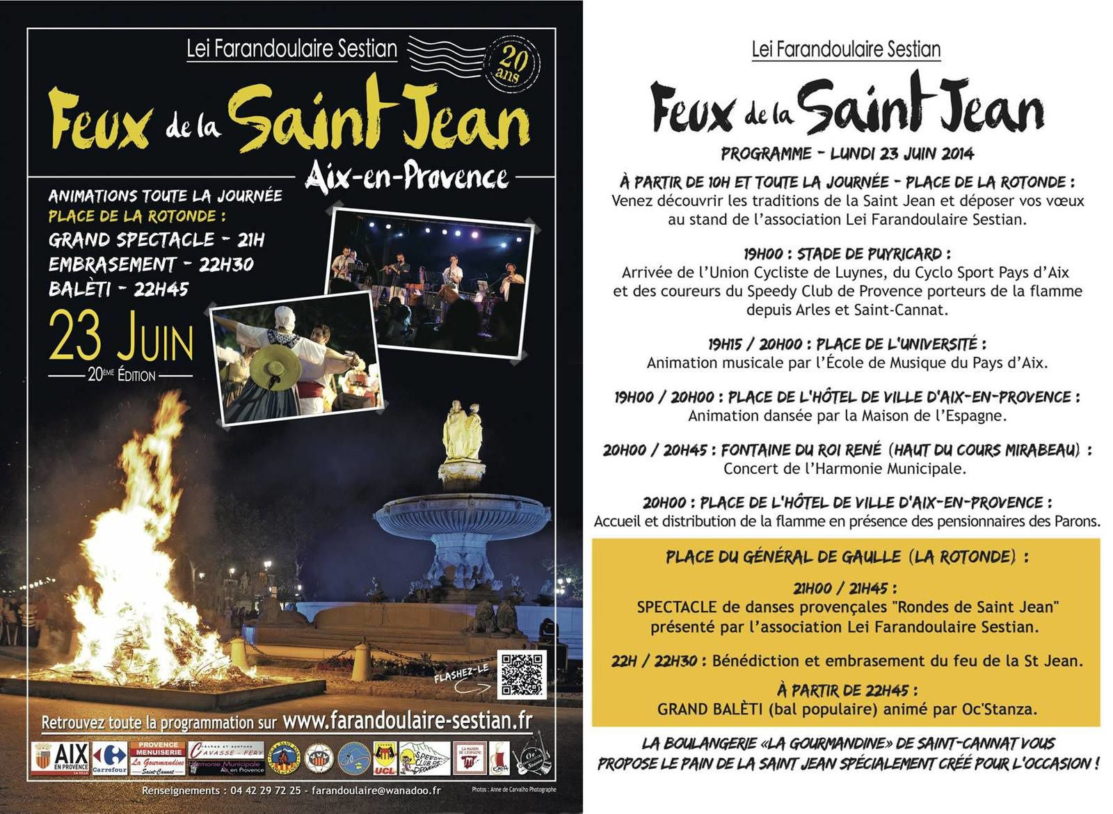 Feux de la Saint Jean à Aix...