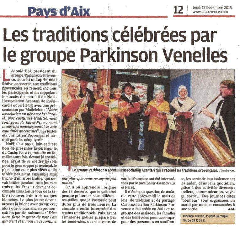 Nous avons chanté pour l'association des parkinsoniens de Provence