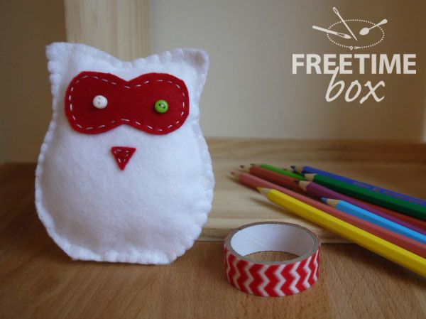Doudou chouette - DIY- Freetime box