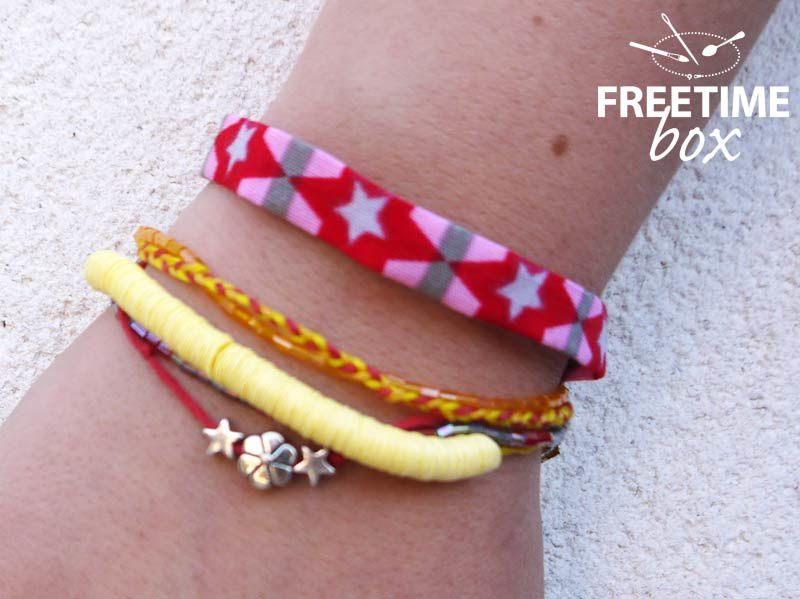 Bracelet multi rangs - DIY - Freetime box