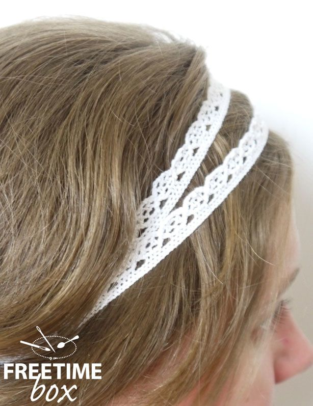 Headband en dentelle - DIY- Freetime box