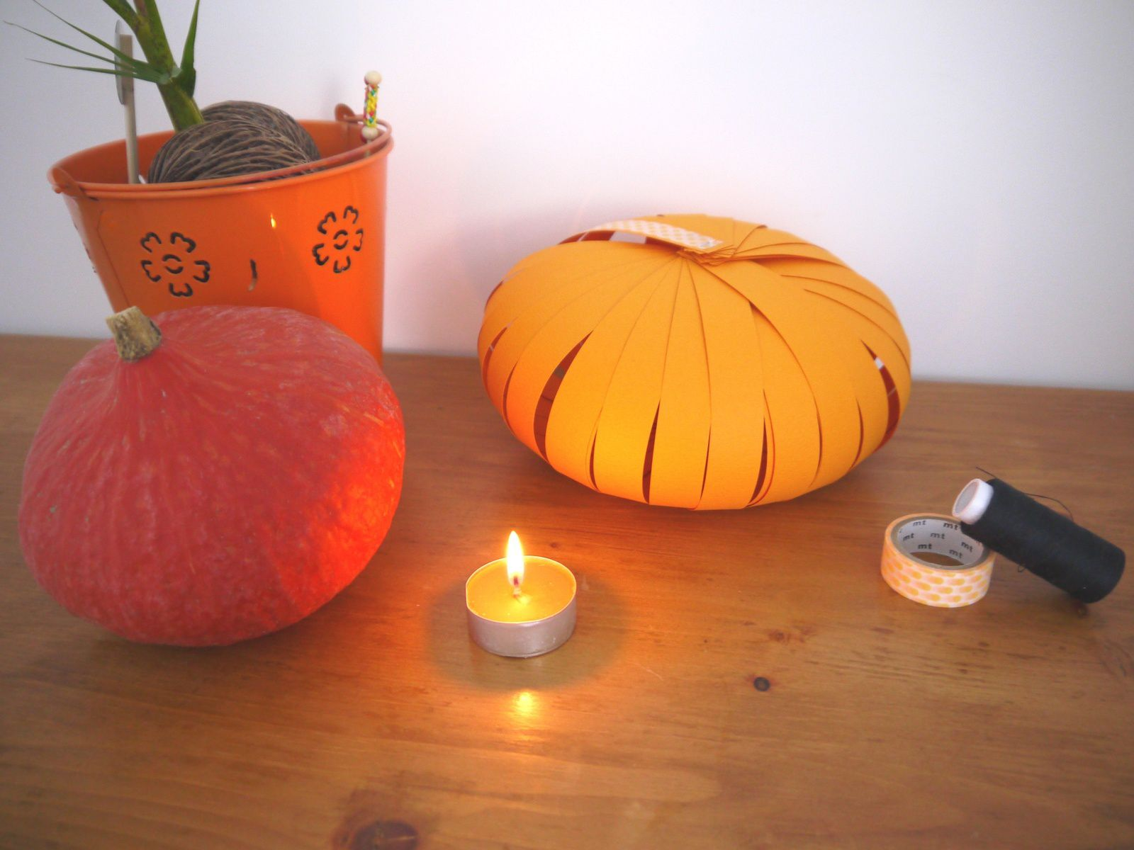 Citrouille en papier - DIY - Article d'automne post Halloween