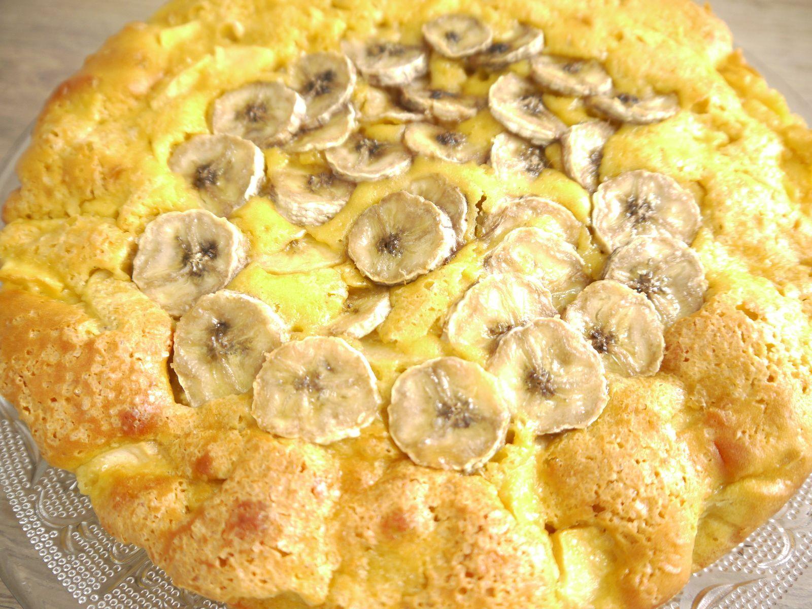 Gâteau au yaourt pommes bananes - Recette facile
