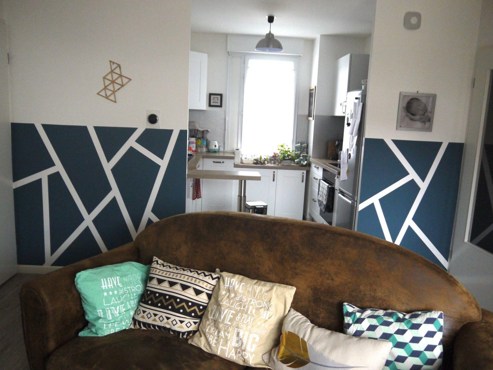 Peindre un mur graphique - DIY et déco avec Enjoy Home