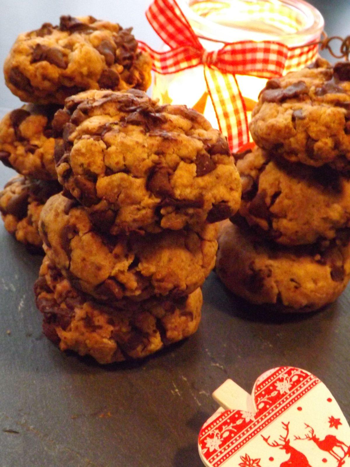 Cookies aux pèpites de chocolat IG bas Vegan