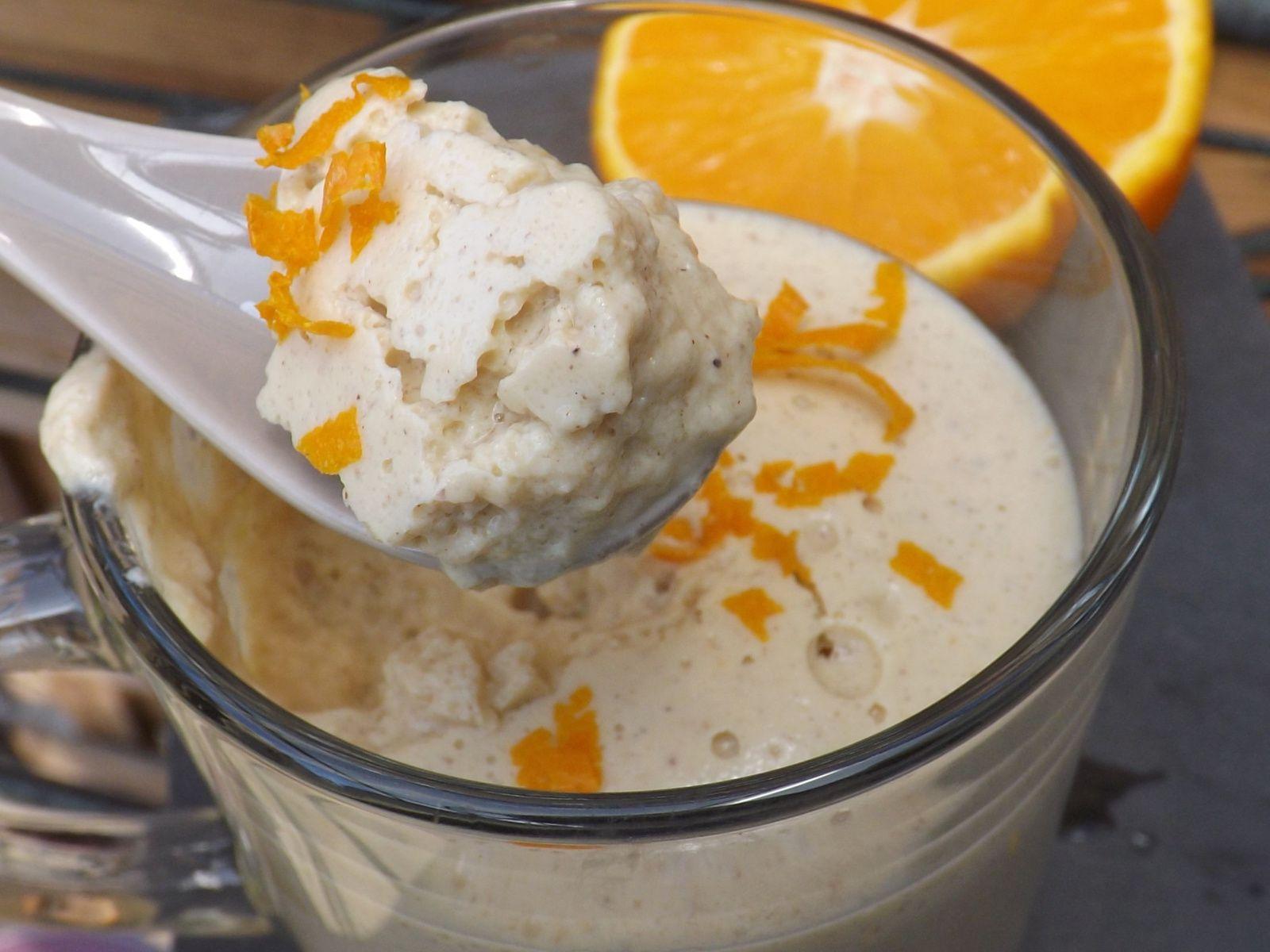 Mousse orange et noisette au tofu soyeux