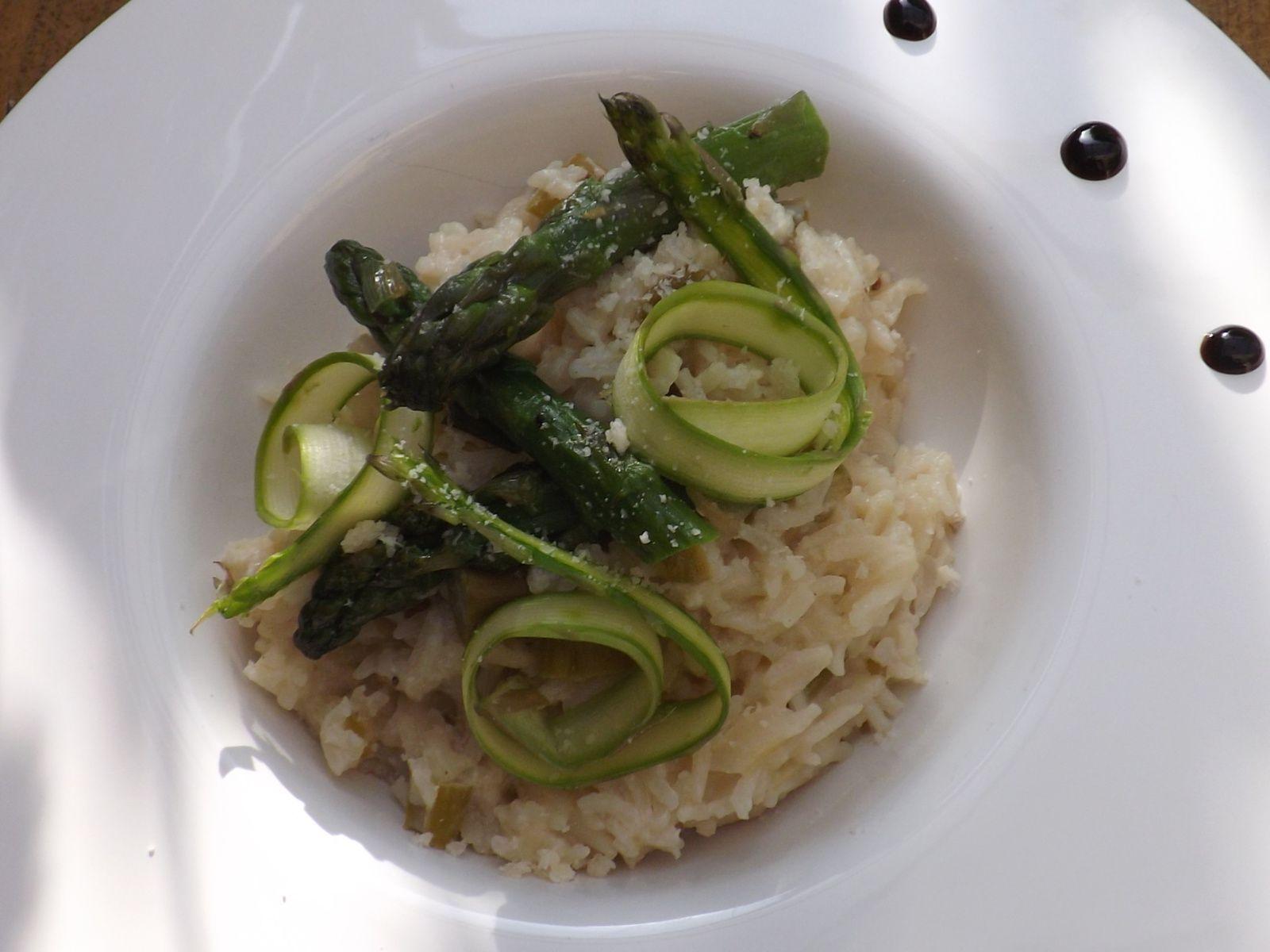 Comme un risotto , riz basmati aux asperges vertes du Blayais IG bas