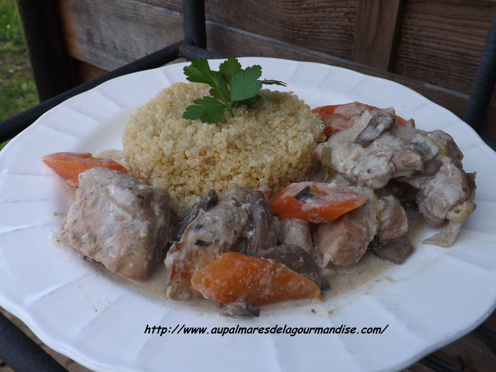 Blanquette de veau cuite au four version Tupperware IG BAS