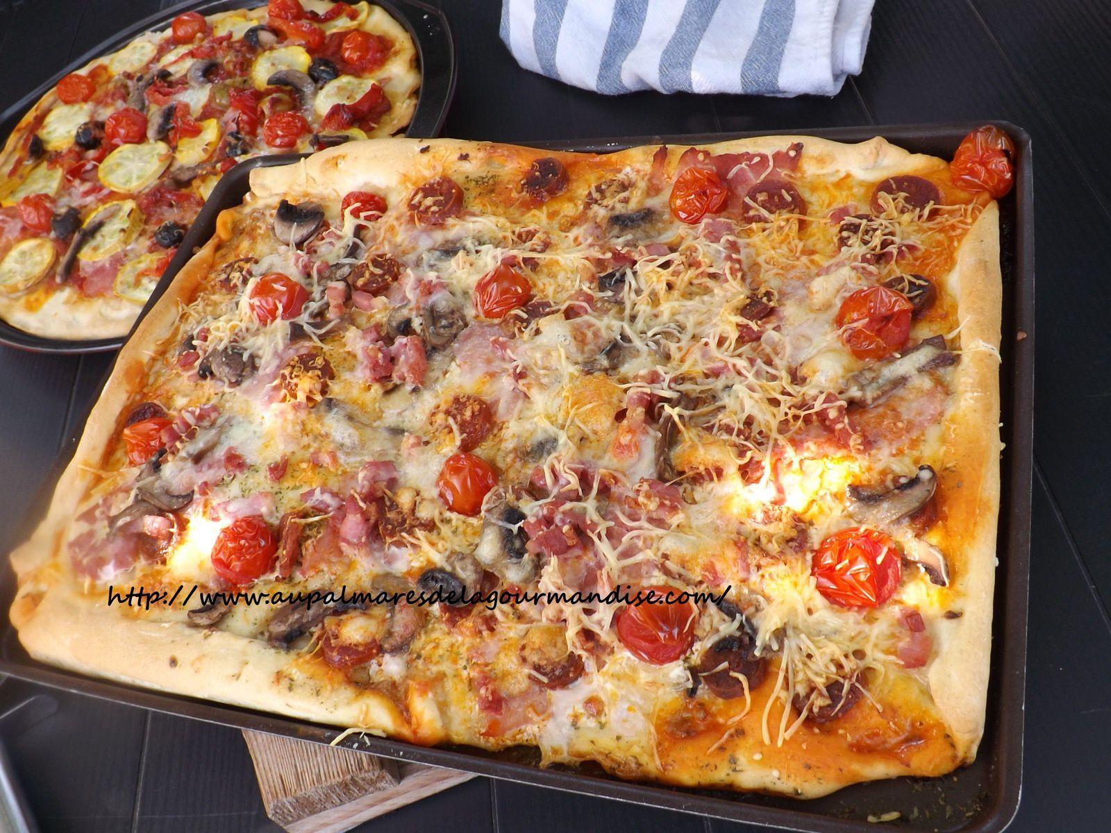 Pizza aux légumes,roquette et parmesan IG bas ou pas!