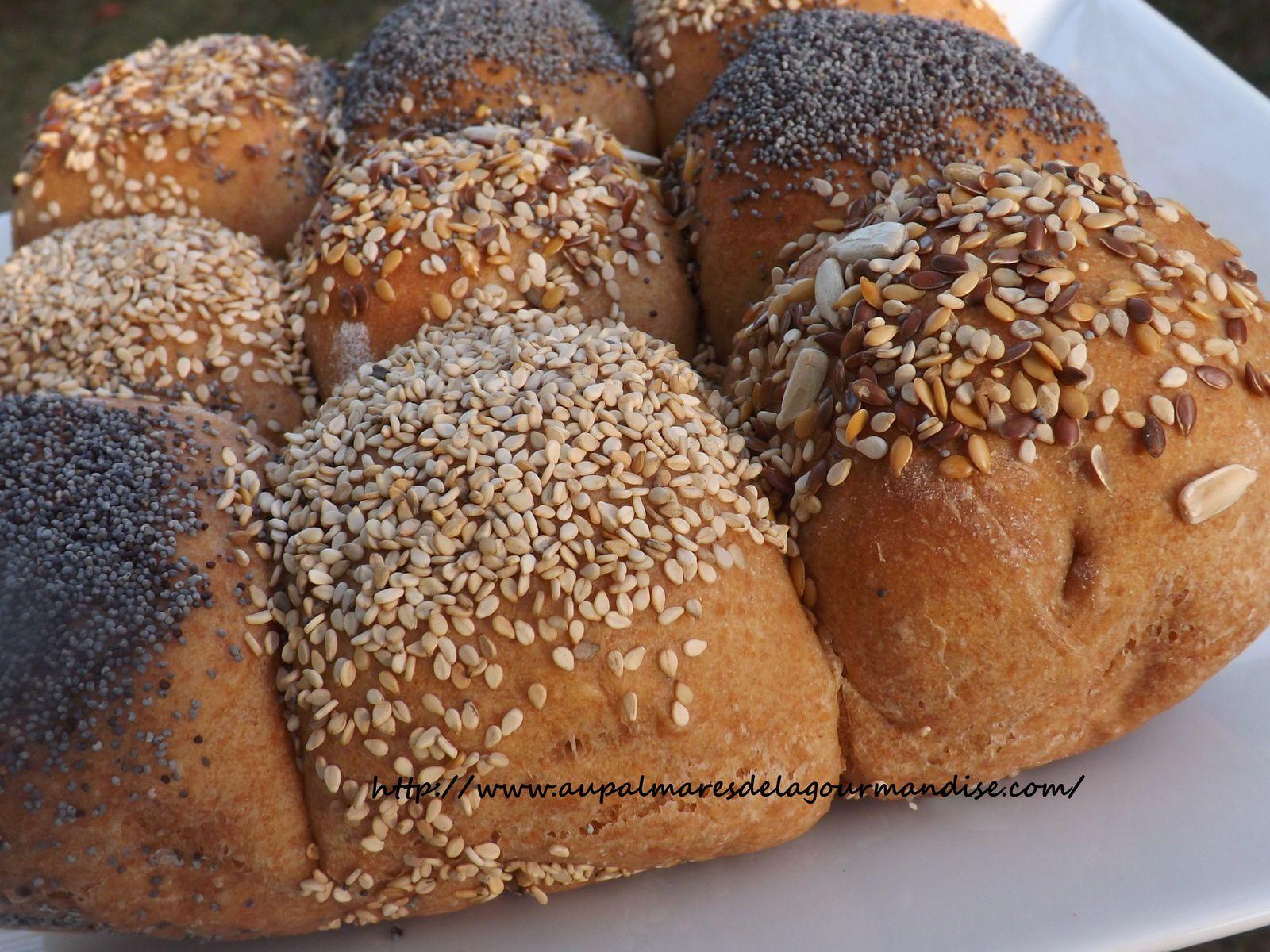 Petits pains damier avec méthode tangzhong épeautre T150 IG bas
