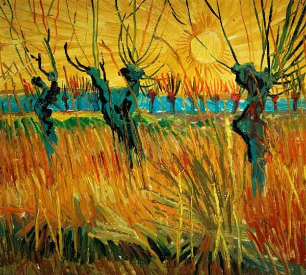 "Vincent van Gogh "" Willows at Sunset / 1888"""