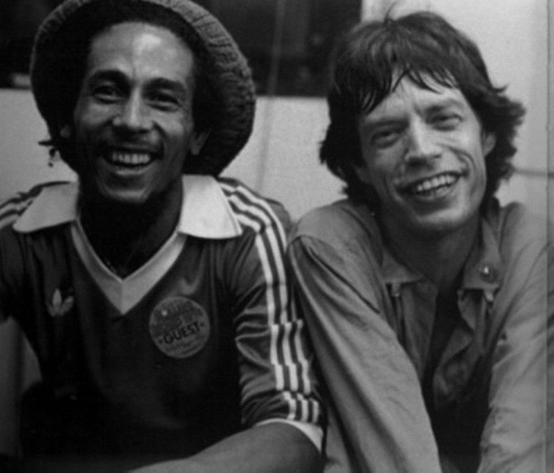 16. Bob Marley and Mick Jagger