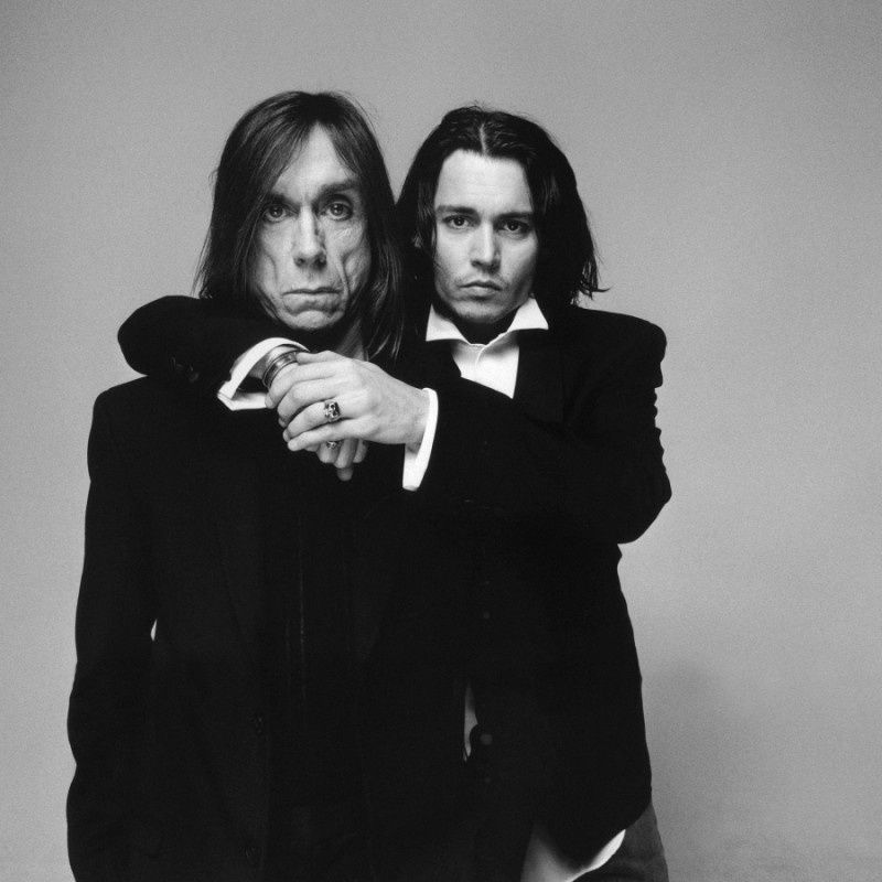 14. Iggy Pop and Johnny Depp