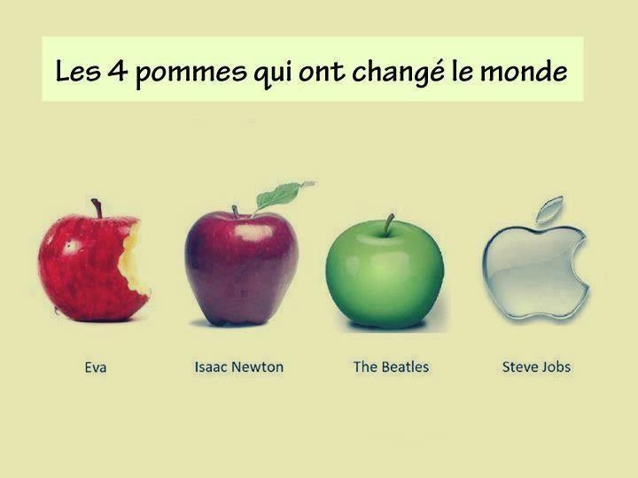 Les 4 pommes qui ont changé le monde