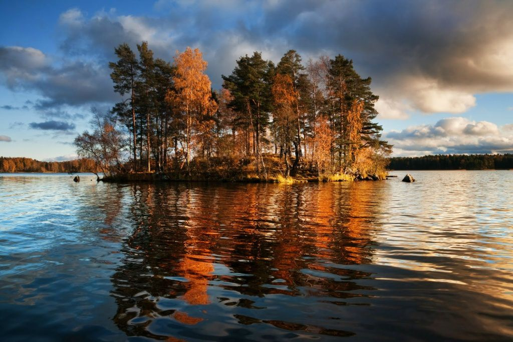 "Dmitry Motti ""Lake Vuoksa the border between Russia and Finland."""