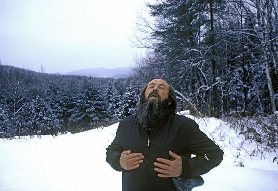 18. Alexander Solzhenitsyn Breathes Free. Photo by Harry Benson Breathe. Alexander Solzhenitsyn in Vermont