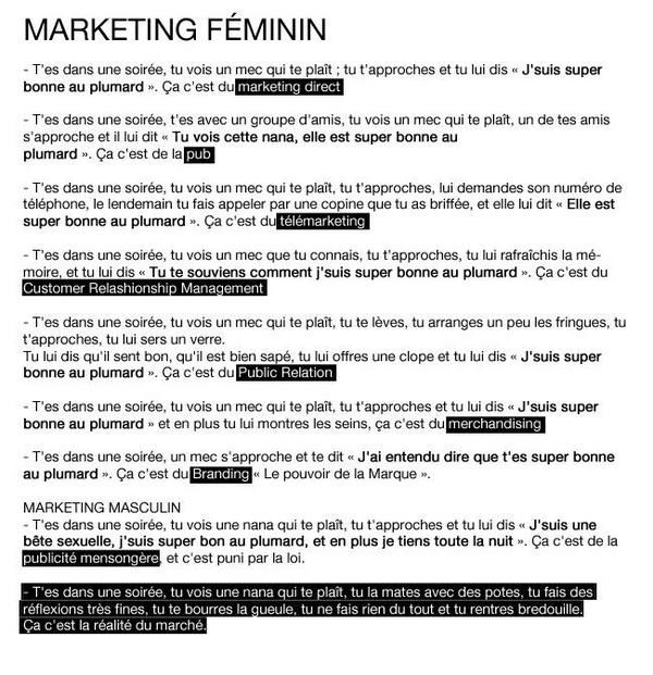 Marketing au féminin