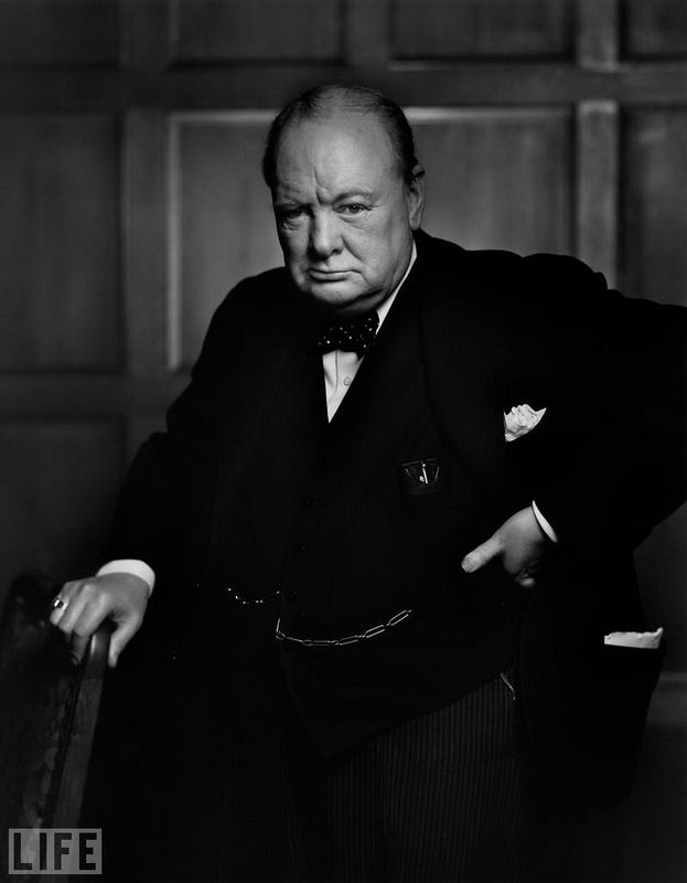 23. Winston Churchill (Winston Churchill). Photo by Yousuf Karsh, 1941 British Prime Minister in 1940-1945 and 1951-1955, respectively. Politicians, military, journalist, writer, Nobel Prize for Literature.