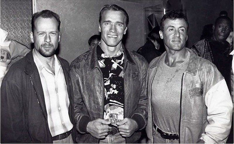 4. Saviors of the world Bruce Willis , Arnold Schwarzenegger, Sylvester Stallone