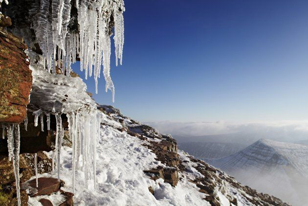 """Icicles on Pen y Fan"" Brecon Beacons, Pays de Galles - Dan Santillo"