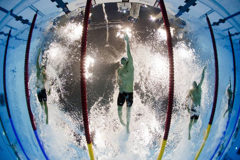 23/ US swimmer Michael Phelps competes in the men's 200m individual medley heats swimming event at the London 2012 Olympic Games on August 1, 2012 in London. AFP PHOTO / FRANCOIS XAVIER MARIT/AFP/Getty Images