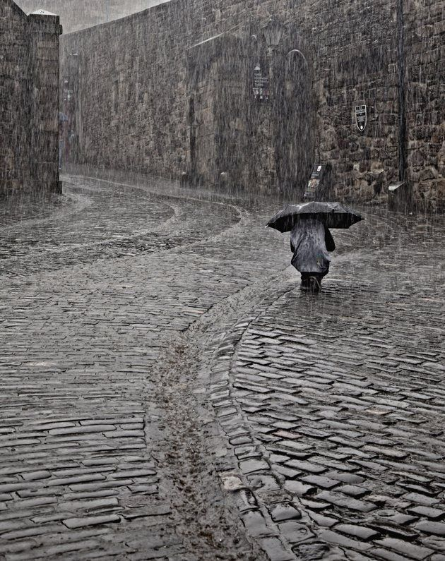 """Light Rain in Edinburgh"", Edinburgh, Ecosse - Bill Terrance"