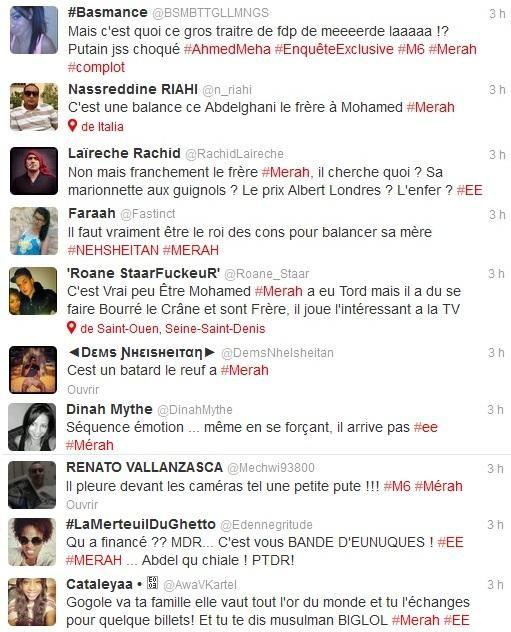Abdelghani Merah dénonce son frère Mohammed Merah => voici quelques réactions immondes sur twitter