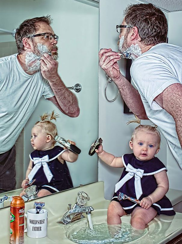 Le meilleur Papa du monde et sa fille Alice Bee en 22 photos !