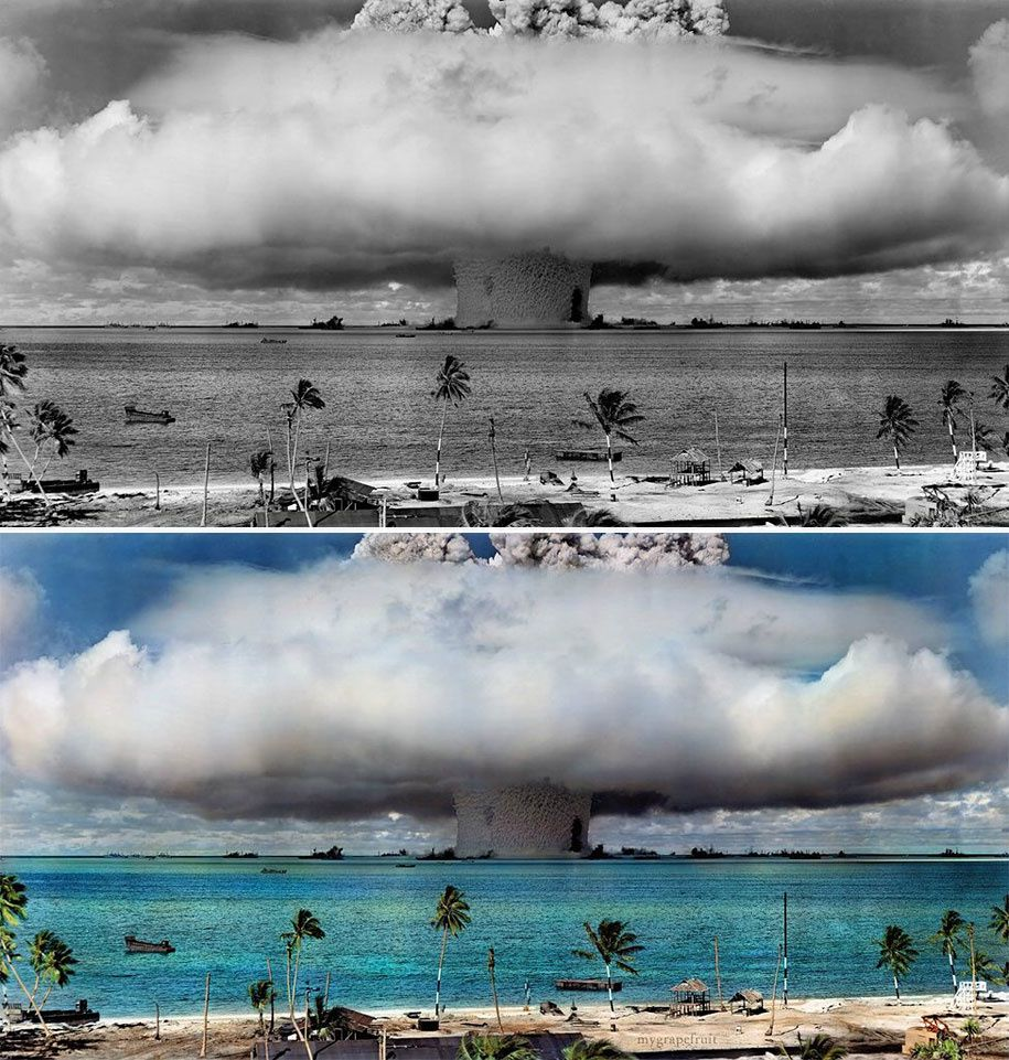 Operation Crossroads, Baker Event at the Bikini Atoll