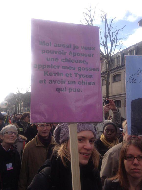 Mariage pour tous, quelques slogans à ne pas manquer
