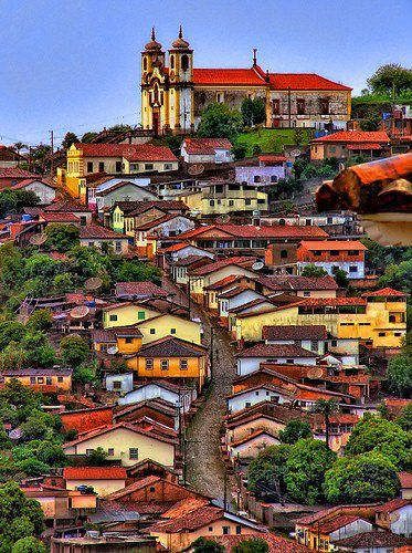 Historic town of Ouro Preto, Brazil