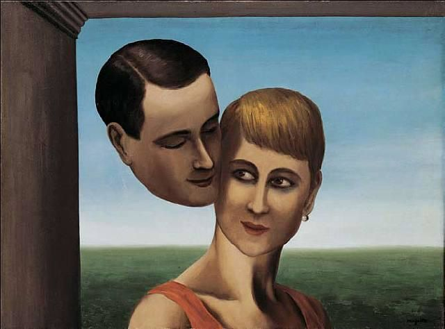 The Lovers (Magritte 1928)