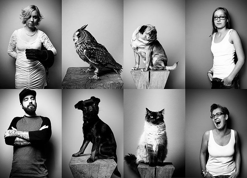 German photographer Tobias Lang (Tobias Lang), who lives in Hamburg, took the photo series, which depicted people with their pets. It is often said that pets and their owners are similar to each other, and not just superficially. Tobias his photo project invites us to check the validity of this discrepancy approval.