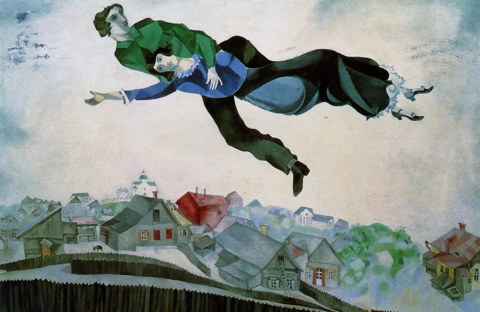 Over the Town, 1918 Marc Chagall