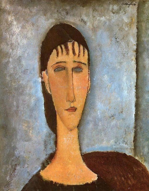 Portrait d'une jeune fille, 1910 (Amedeo Modigliani)