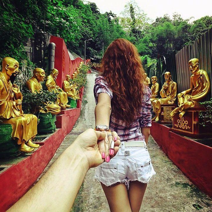 """Serie """"Follow me"""" by Murad Osmann (24 photos)"""