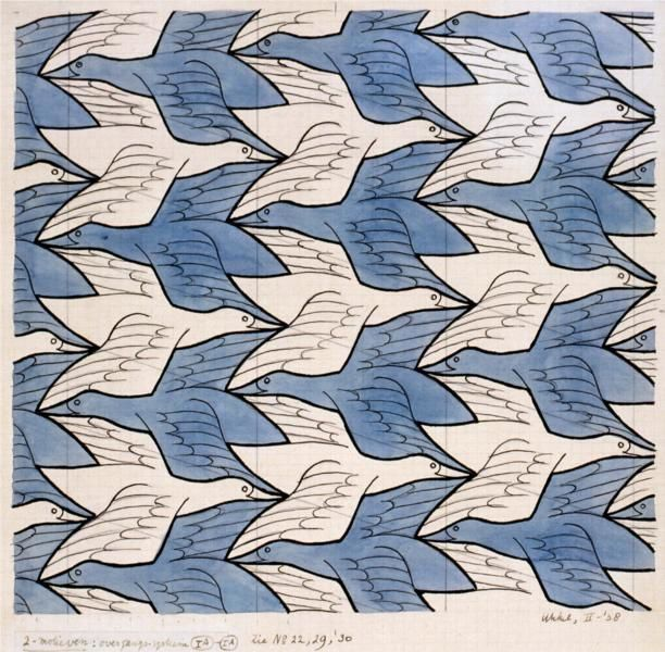 Two Birds, M.C. Escher 1938