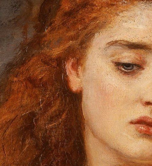John Everett Millais, &quot&#x3B;The Martyr of Solway&quot&#x3B; (detail)
