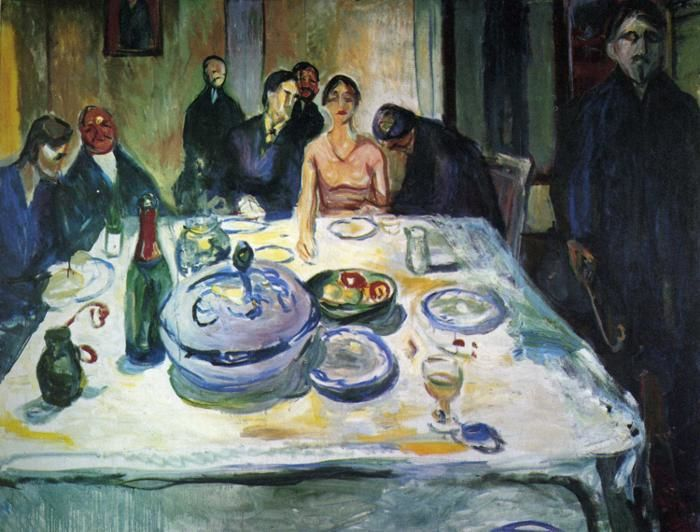 The Wedding of the Bohemians (Edvard Munch, 1925)