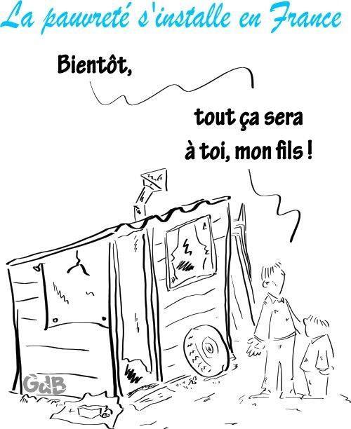 La pauvreté s'installe en France