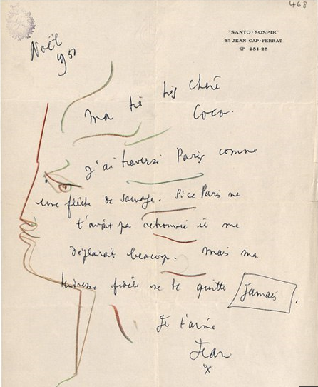 Jean Cocteau en quelques dessins