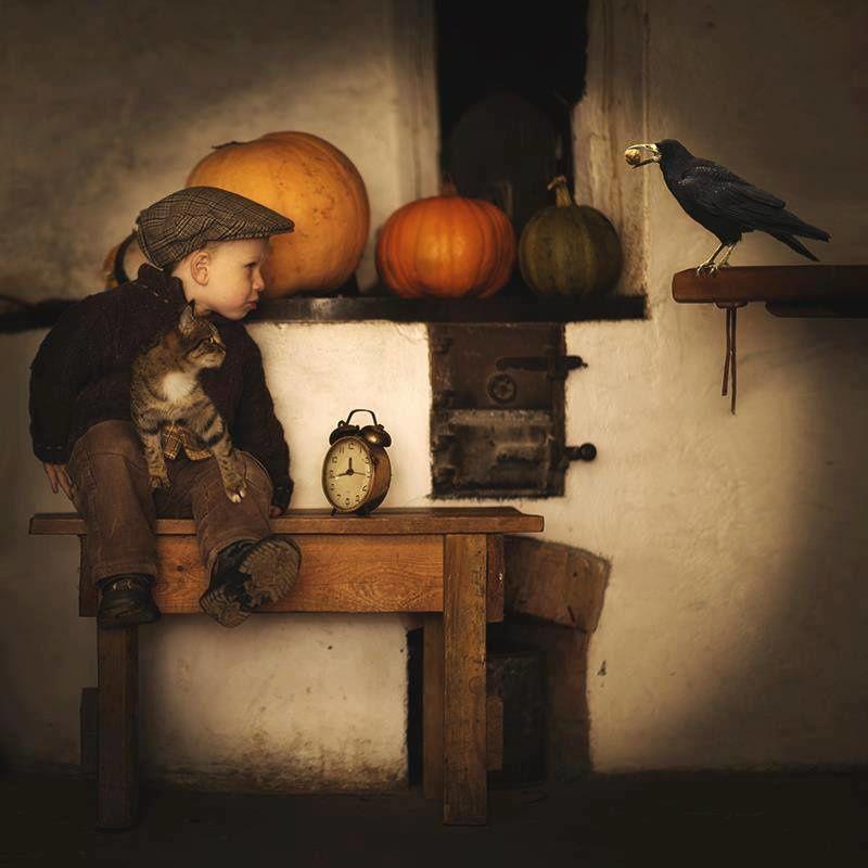 Le corbeau, le chat et l'enfant (par Adam Wawrzyniak)