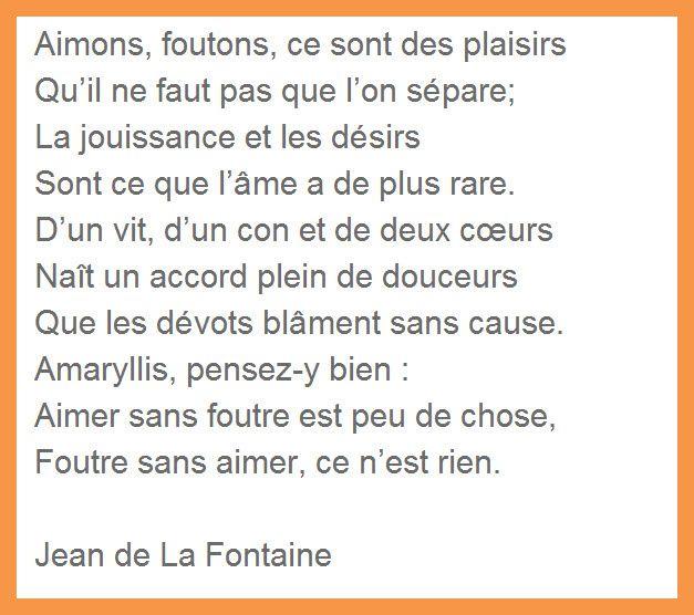 Jean de la Fontaine n'écrivait pas que des fables..