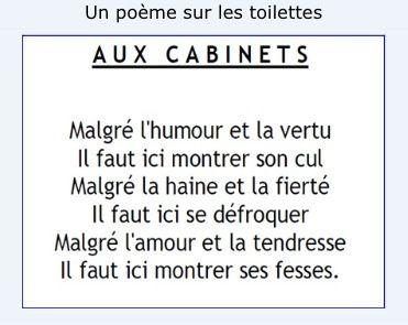 Poème sur une porte de toilettes